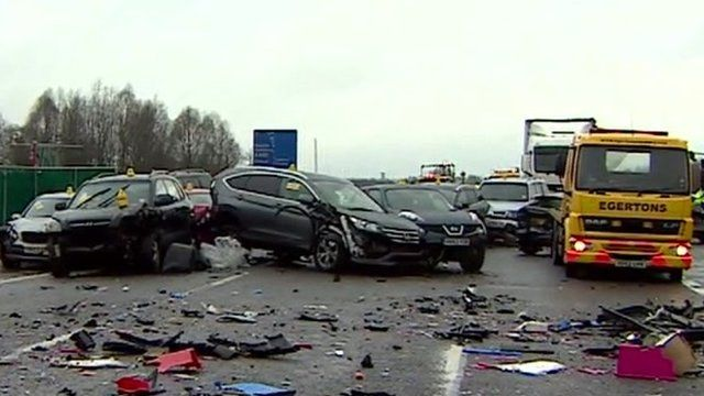 The crash on the M40