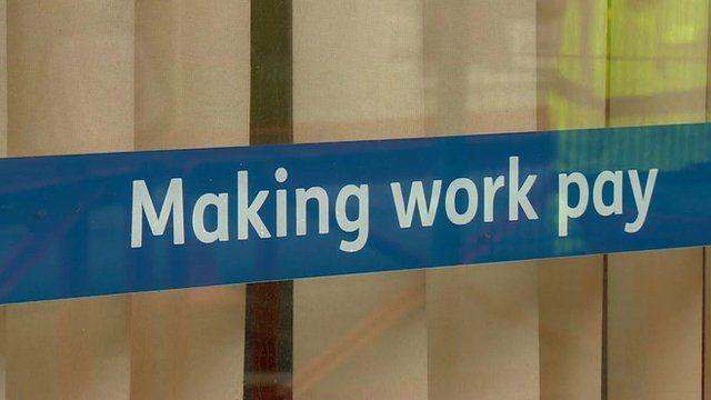 Sign at job centre