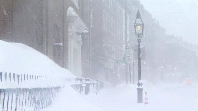 Boston, Massachusetts, where February has been the snowiest in the city's history