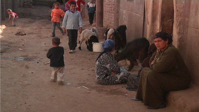Impoverished Egyptian village from where many of the murdered men came