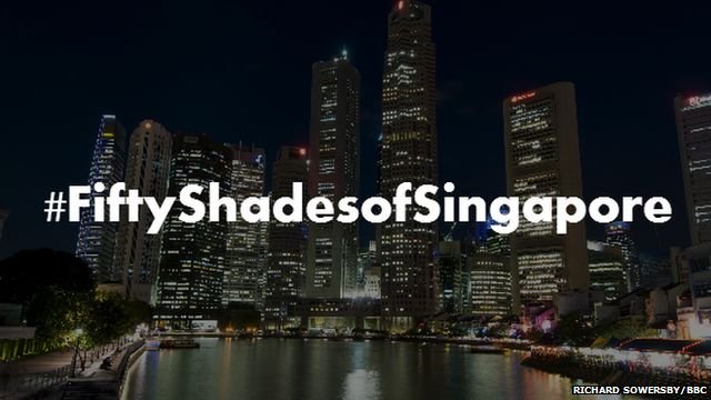 Picture of Singapore skyline at night