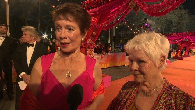 Celia Imrie and Dame Judi Dench