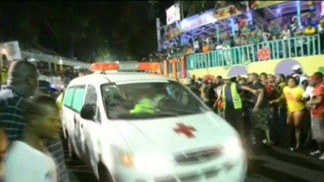 Ambulance leaves scene of Haitian Mardi Gras after people were electrocuted