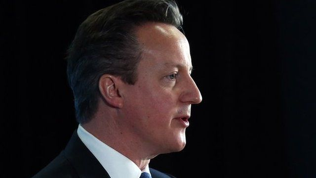 File picture of David Cameron speaking at event in Brighton on 17 Feb 2015