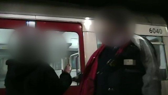Tube worker being assaulted