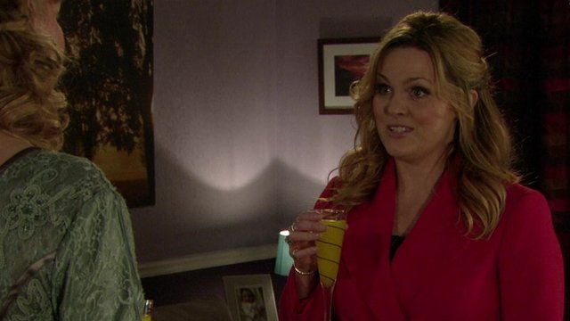 Tanya Branning, referred to Ian Beale, played by Adam Woodyatt, by his real name during a live scene.