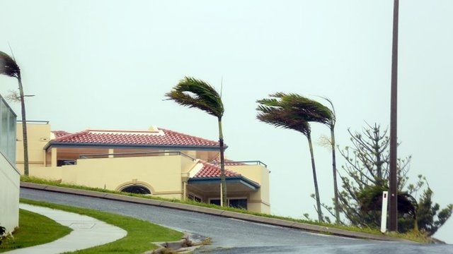 Strong winds in Yeppoon