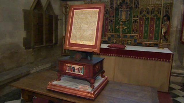Magna Carta cake in Salisbury Cathedral