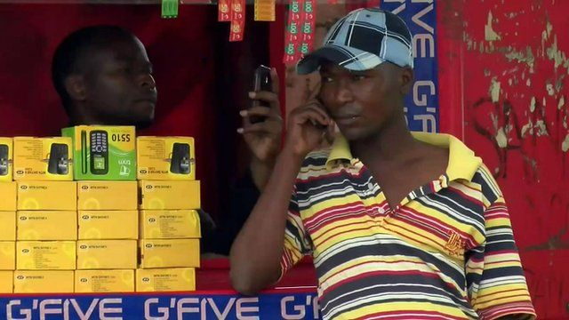 Man on mobile phone