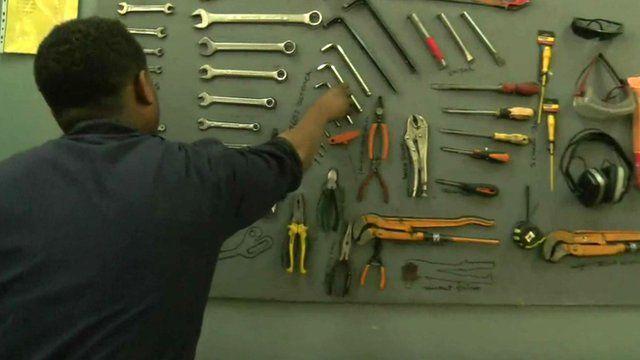 Ethiopian work using tool board