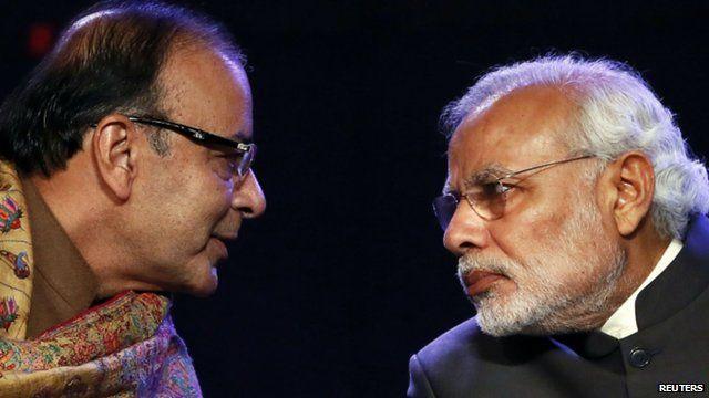 India's Finance Minister Arun Jaitley and Prime Minister Narendra Modi