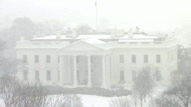 Snow covered White House