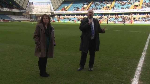 Jimmy's parents Margaret and Barry thanked Millwall Football Club and fans at The Den on Saturday
