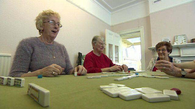 Pensioners at a seniors club in Hastings