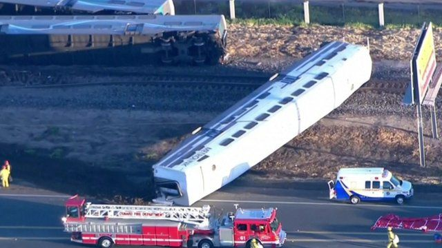 The train after the collision