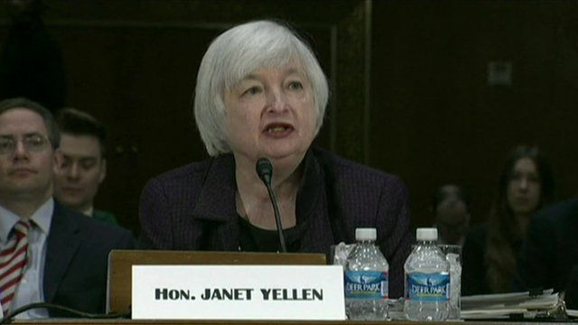 US Fed chief eases fears of a rise in rates