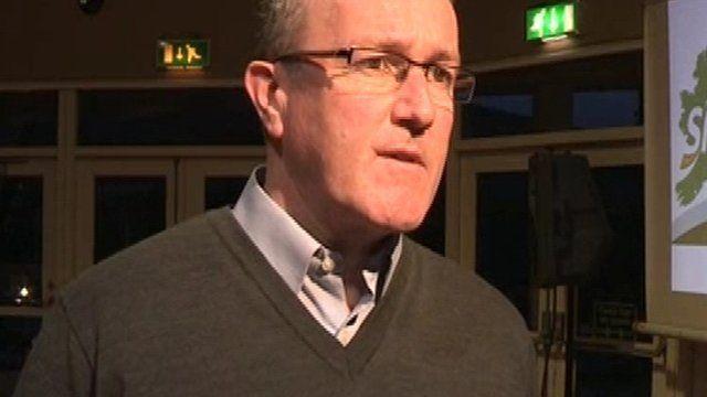 Sinn Féin MP Conor Murphy said the man's family had previously been threatened