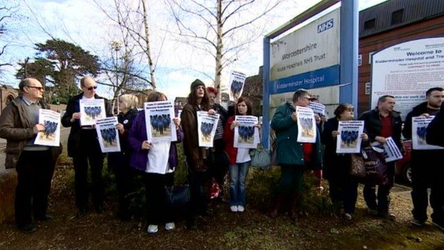 Worcestershire hospitals protesters