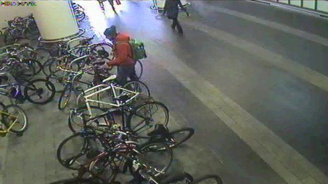 Cyclist parking at Birmingham New Street