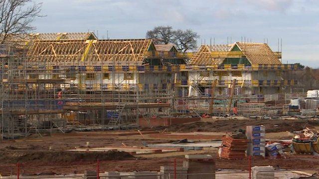 Building work under way