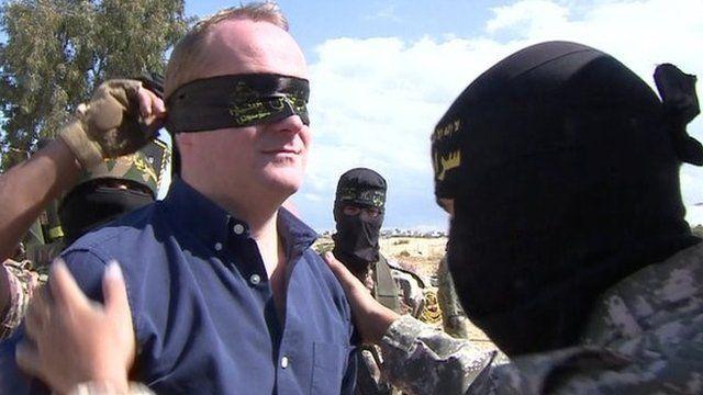Quentin Sommerville blindfolded