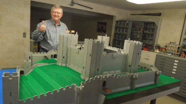 Rhuddlan Castle in Lego by Bob Carney