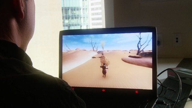 Playing games using eye tracking