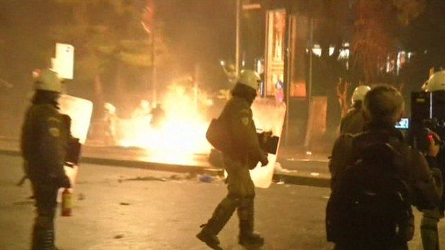 Violence on the streets of Athens