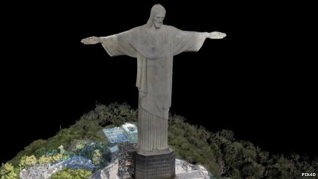 3D model of Christ the Redeemer statue