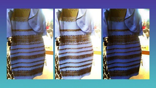 Blue-black or white-gold? The dress the world's been talking about ...
