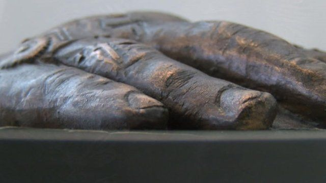 Bronze hand cast by sculptor Louise Giblin