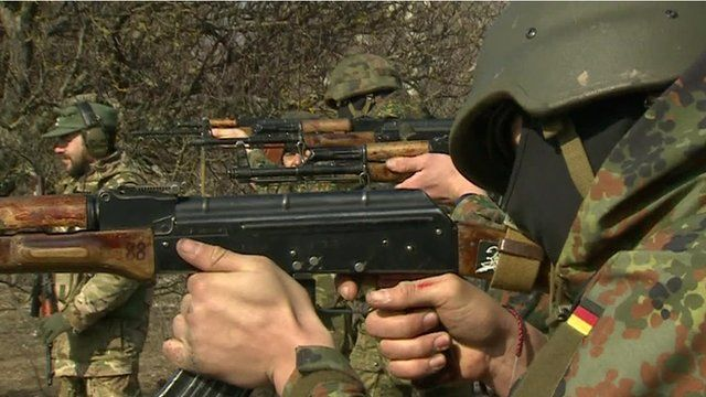 Fighters in Mariupol