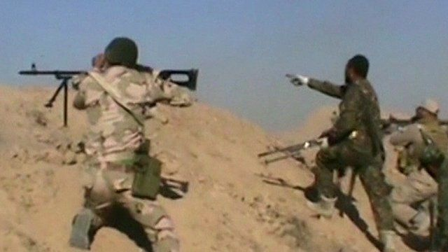 Iraqi forces attack IS positions