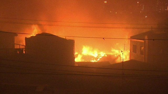 Burning houses