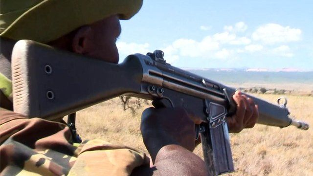 Anti-poaching soldiers