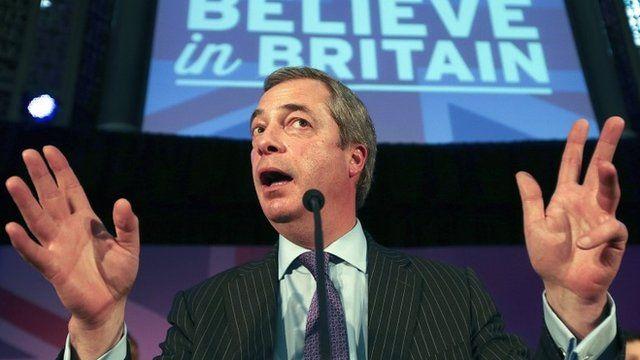 The UKIP leader Nigel Farage
