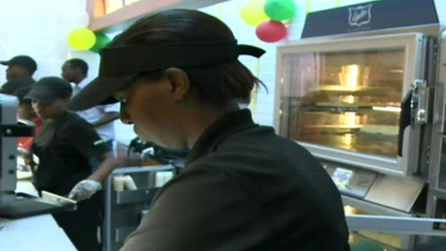 Fast food outlet in Kenya