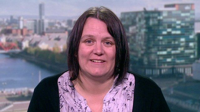 Nicola Scholes, whose son Liam was excluded from school for dressing as a character from 50 Shades of Grey