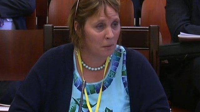 Jenny Palmer appeared before Stormont's Social Development Committee in January