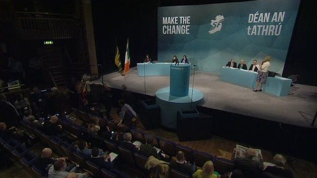 The stage at the Sinn Féin conference in Derry