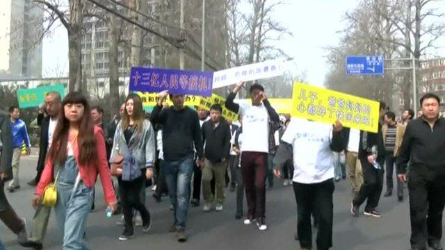 Protestors in Beijing