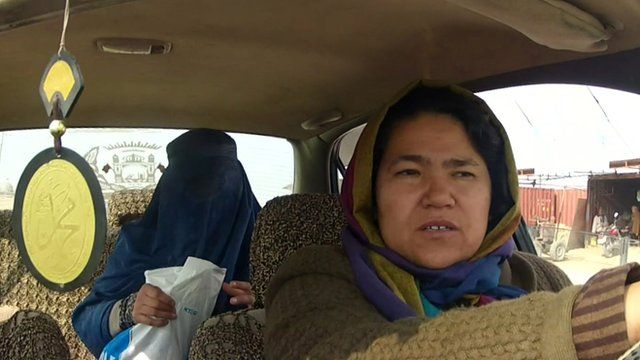 Female taxi driver in Afghanistan
