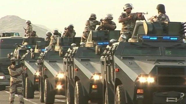 Armoured vehicles in Saudi Arabia