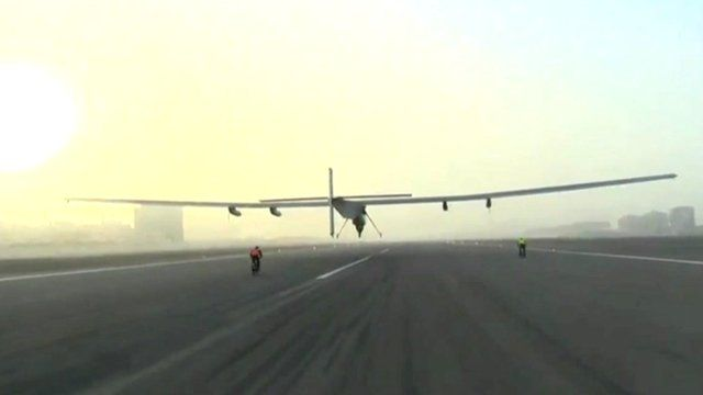 Solar Impulse-2 launches in Abu Dhabi