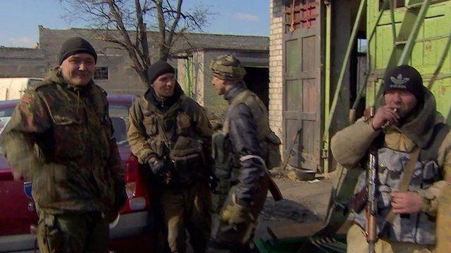 Ukrainian rebel soldiers