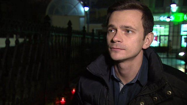 Ilya Yashin, speaking to the BBC