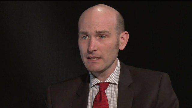 French journalist Nicolas Henin who was held hostage in Syria by the British militant known as 'Jihadi John' gives an interview to the BBC