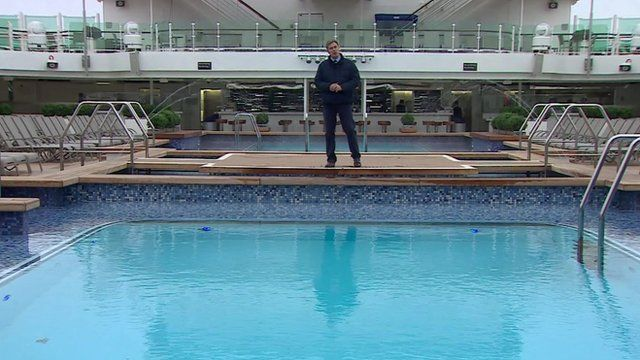 Duncan Kennedy by swimming pool