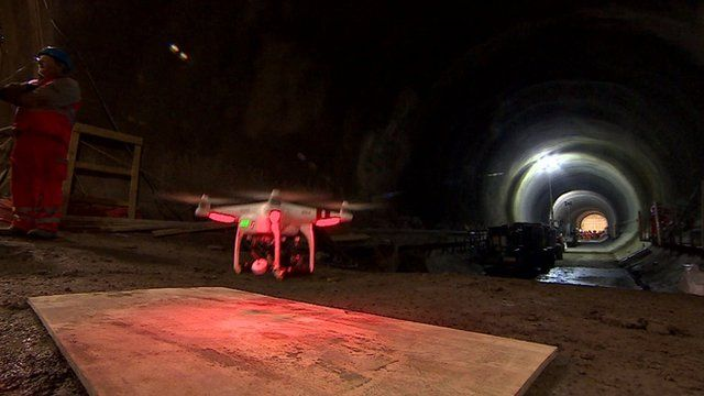Drone in Crossrail