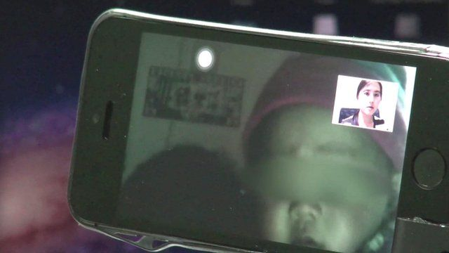 Baby for sale on a mobile video call